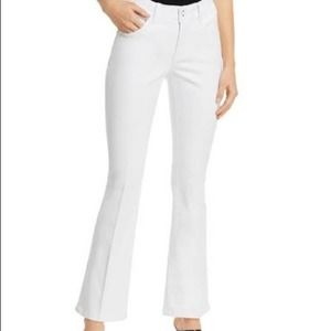 JAG White High Waisted Cropped Flare Jeans 10/30